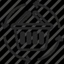 basket, commerce, handle, market, purchase, shop, shopping icon