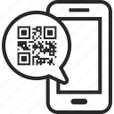 barcode, code, digital, mobile, phone, qr, scan icon
