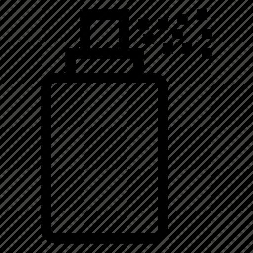 bottle, clean, perfume, splatter, spray, spraybottle, water icon