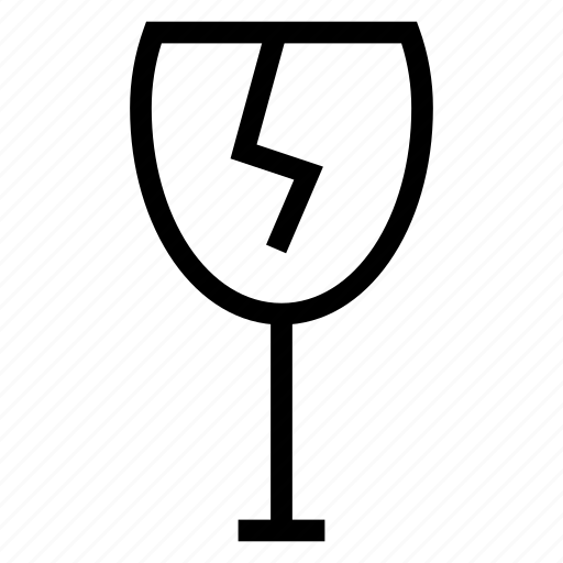 Drink, alcohol, drinkingglass, wineglass, glass, brokenglass, glasses icon