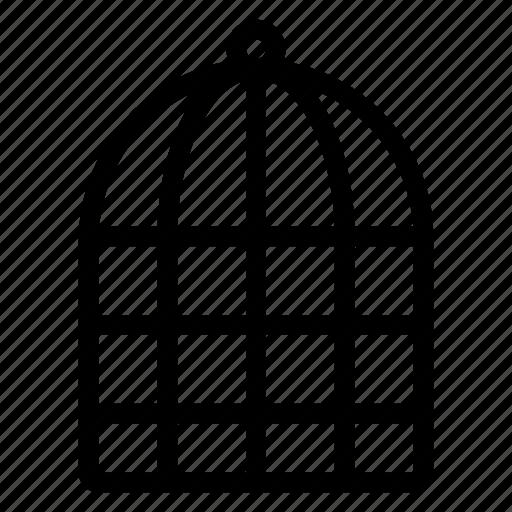 House, parrot, bird, pinjara icon