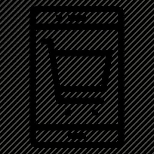 Smartphone, shopping, communication, cart, phone, ecommerce icon