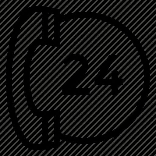 clock, customer, service, time icon