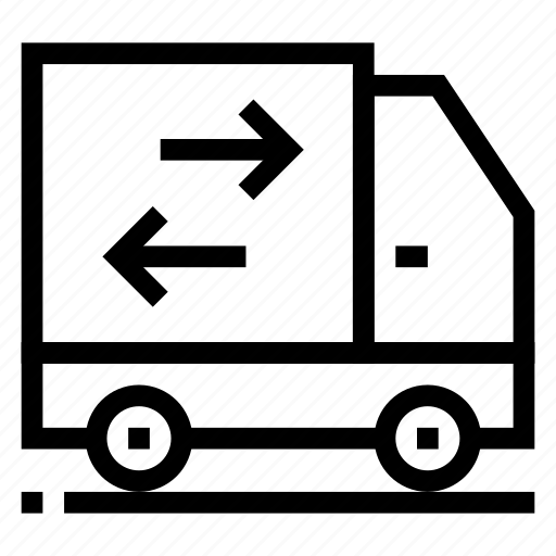 Deliverytruck, courier, shipping, delivery, truck, ship, transport icon