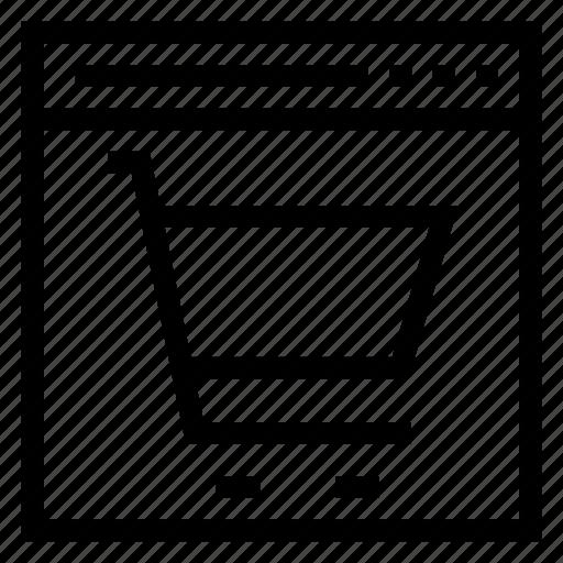 buy, cart, commerce, ecommerce, shop, shopping, web icon