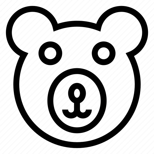 animal, bear, face, teddy, teddybear, toy, wolf icon