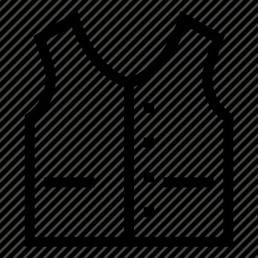 cloth, dress, fashion, vest, wasket icon