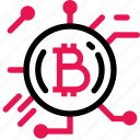 bitcoin, coin, ecommerce, finance, money, payment, shopping icon
