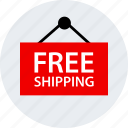 ecommerce, free, online, shipping, shop, shopping icon