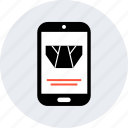 ecommerce, mobile, online, shop, shopping, underwear icon