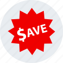 ecommerce, online, save, shop, shopping, tag icon