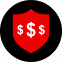 dollar, ecommerce, online, shield, shop, shopping icon