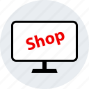 ecommerce, online, pc, shop, shopping icon