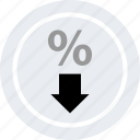 arrow, down, ecommerce, online, shop, shopping icon