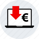 down, ecommerce, euro, online, shop, shopping icon