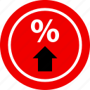 ecommerce, online, percent, shop, shopping, up icon