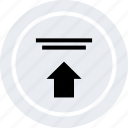 arrow, ecommerce, online, shop, shopping, up icon
