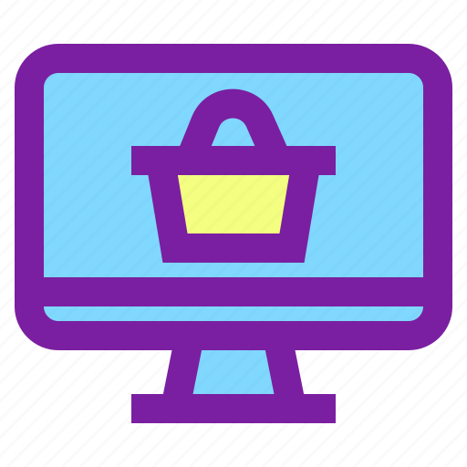 computer, internent, online, online shopping, shopping icon