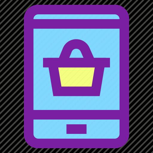 mobile, mobile shopping, phone, shopping icon