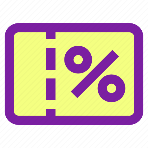 coupon, discount, gift, shopping icon