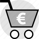 card, euro, shopping, sign icon