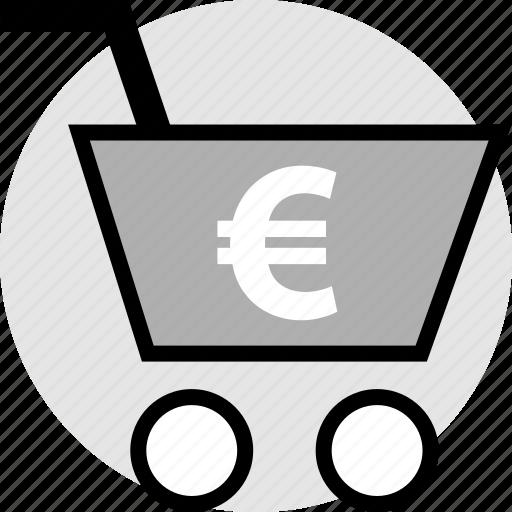 card, euro, shopping, sign icon