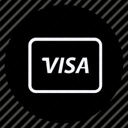 card, finance, money, shop, shopping, store, visa card icon