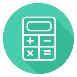 calculator, finance, money, shop, shopping, store icon