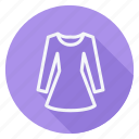 dress, finance, long sleeve dress, money, shop, shopping, store icon