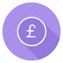 currency, finance, money, pound sterling, shop, shopping, store icon