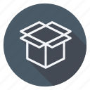 box, empty box, finance, money, shop, shopping, store icon