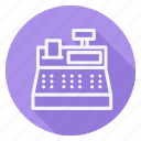 cash register, currency, finance, money, shop, shopping, store icon