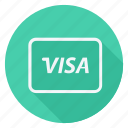 finance, money, payment, shop, shopping, store, visa card icon