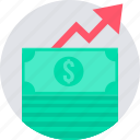 cash, increase, money, profit, revenue icon