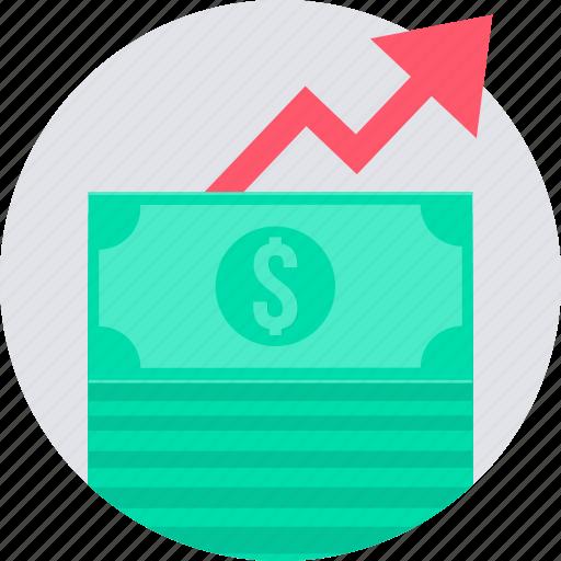 cash, increase, money, profit, revenue icon