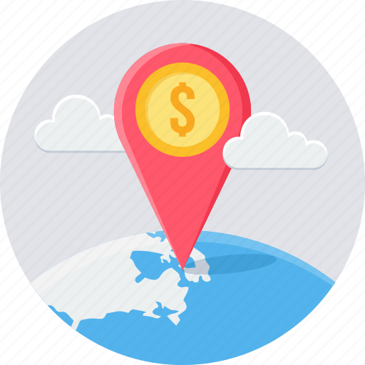 bank location, gps, location, map, navigation icon