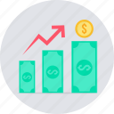 increase, profit, revenue icon