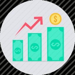 increase, profit, revenue icon