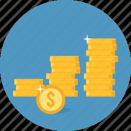 business, finance, income, money, profit, revenue icon
