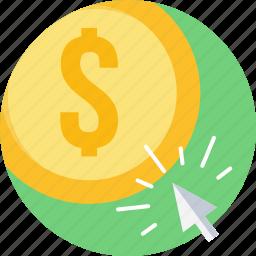 optimization, pay per click, ppc, seo, web icon