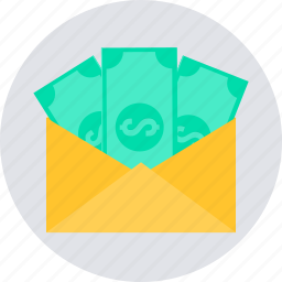 currency, envelope, money, money order, payment icon