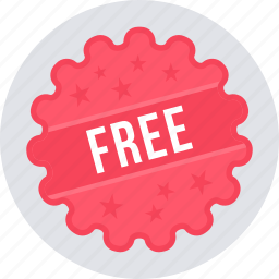 free, label, offer, sale, shopping, tag icon