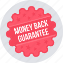 guarantee, money back, offre, label, tag, warranty