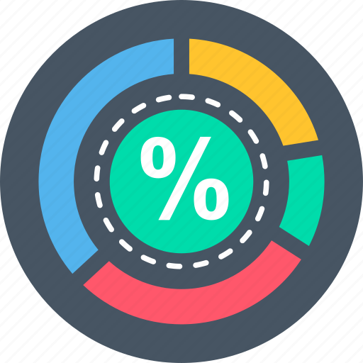 business, discount, percent, percentage, survey icon