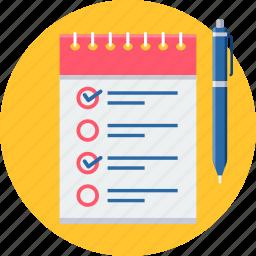 clipboard, do, itemlist, list, menu, task, tickmark icon