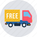 delivery, free, truck, cargo, logistic, transport, transportation