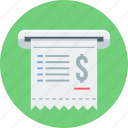 bill, invoice, money, receipt icon