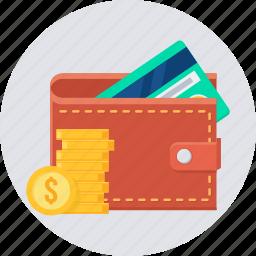 cash, credit, debit, money, payment, wallet icon
