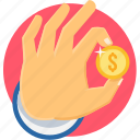 business, finance, financial, gesture, hand icon