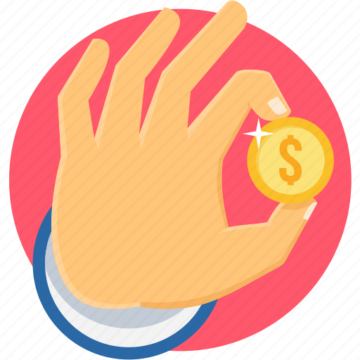 business, finance, financial, gesture, hand icon